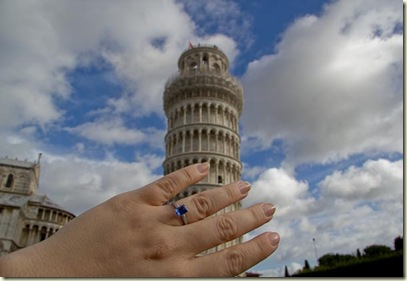Ring at Leaning Tower of Pisa