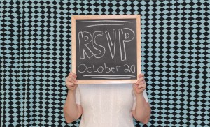 Our DIY RSVP postcard