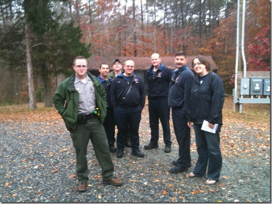 me with EMS personnel