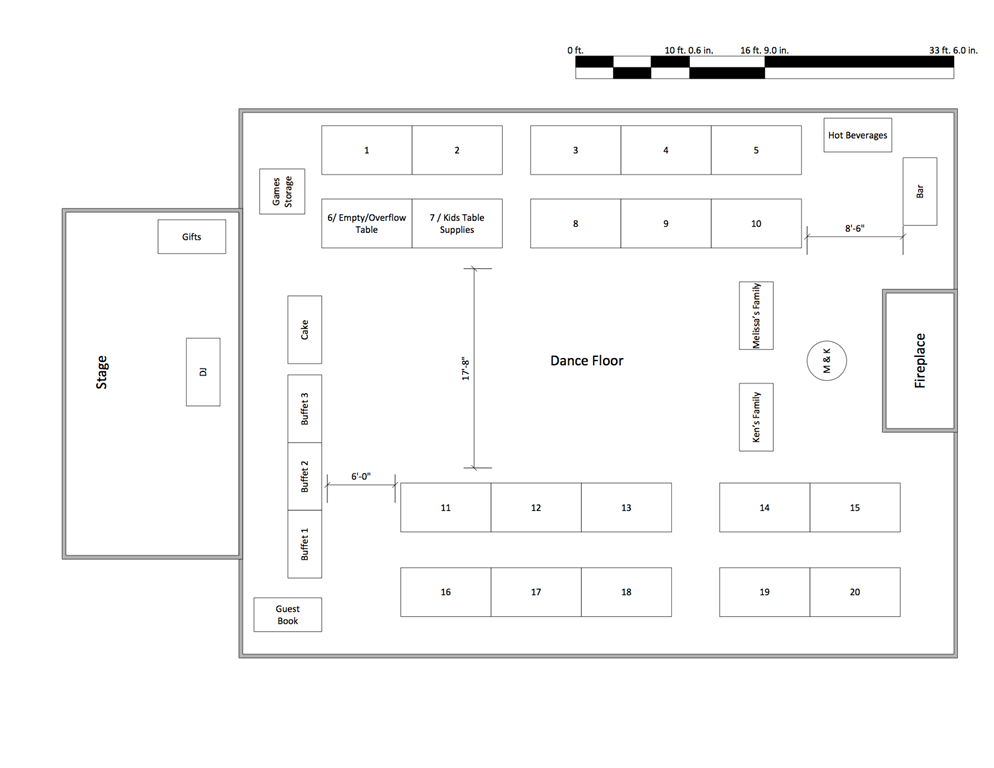You ve decided your wedding venue now what supernovabride for Wedding floor plan template